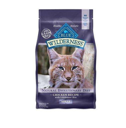 Blue Buffalo Wilderness Chicken Recipe Grain Free Dry Cat Food 6lb