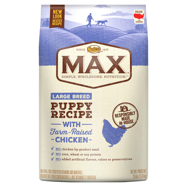 Nutro Max Natural Chicken Meal Rice Recipe Large Breed Puppy