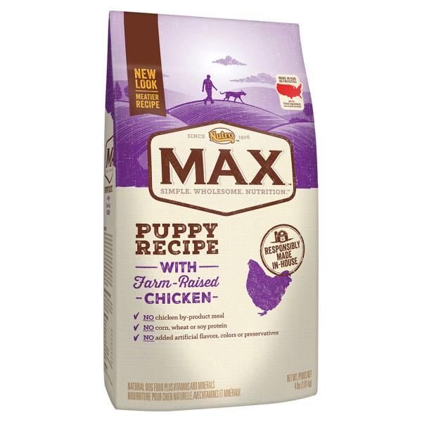 Nutro Max Puppy Recipe With Farm Raised Chicken Dry Dog Food 4 Lbs