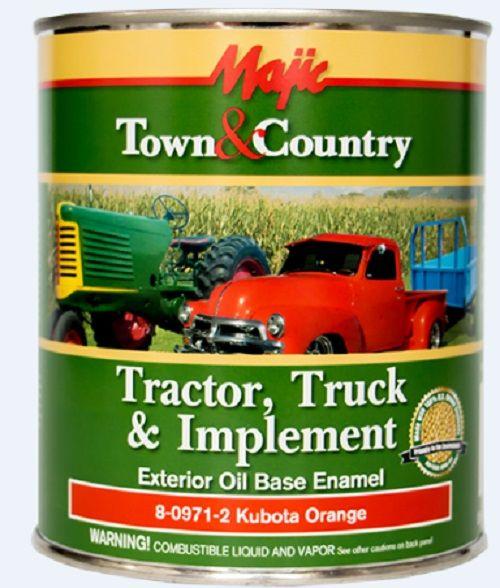 Majic Tractor Truck & Implement Exterior Oil Base Enamel Paint Kubota  Orange - 8-0971-2