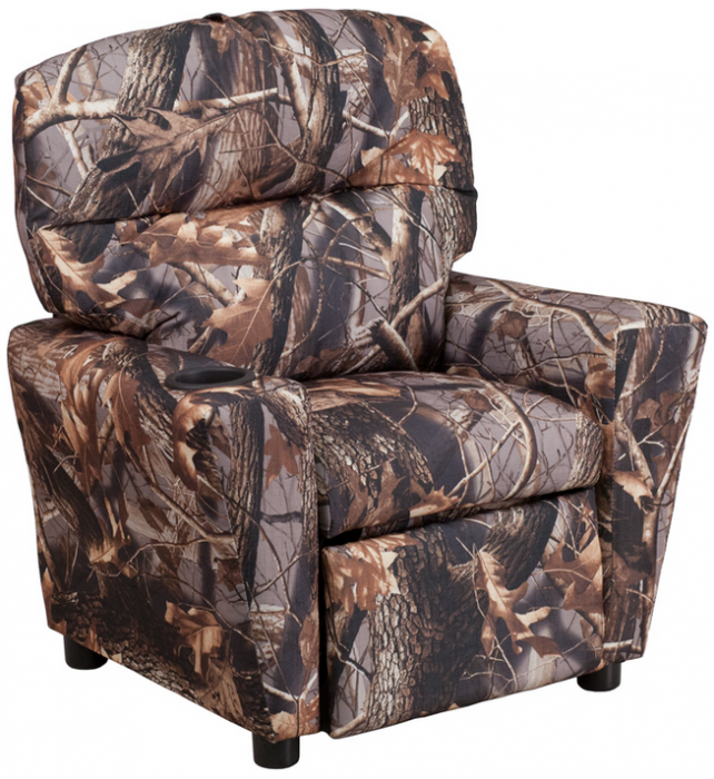 Flash Furniture Contemporary Camouflage Fabric Kids Recliner W