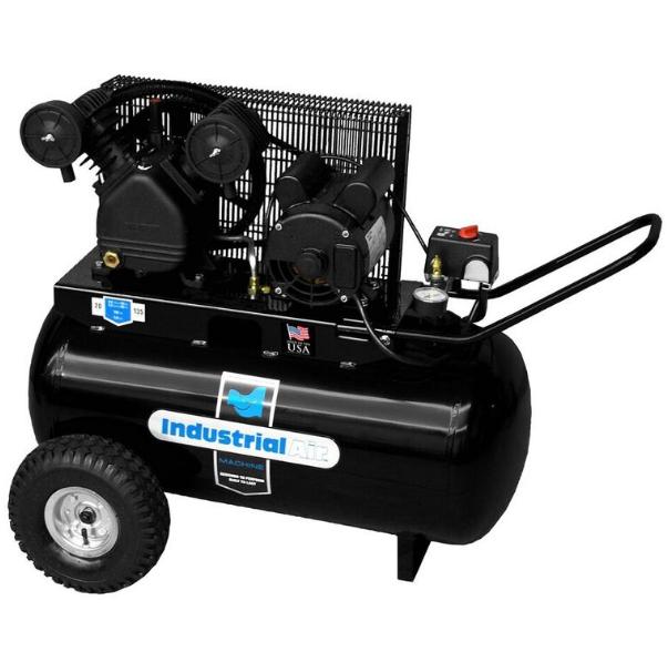 Rural King Air Compressor >> Industrial Air Compressor 1 6hp Horz 20 Gallon V Twin