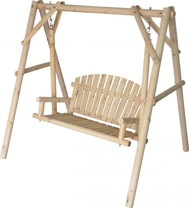 Wooden Log Swing