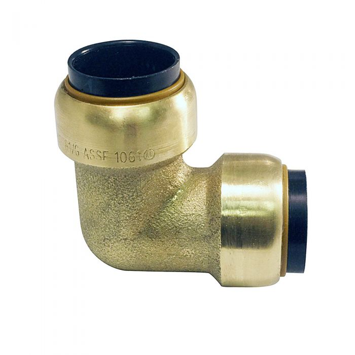 Tectite 3/4 Inch Push-Fit x Push Fit Brass 90 Degree Elbow Lead Free -  10155478