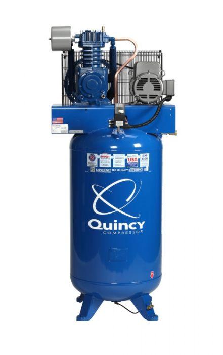 Rural King Air Compressor >> Quincy Qt 5 Vertical 80 Gallon Lon 5 Hp 2 Stage Air Compressor
