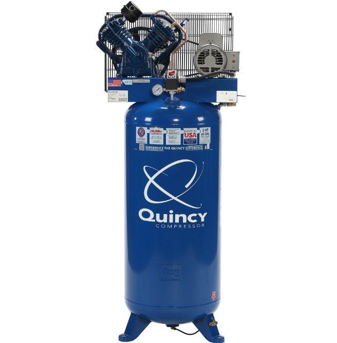 Rural King Air Compressor >> Quincy Qt 54 5 Hp 2 Stage 60 Gallon Lon Air Compressor 2v41c60vc