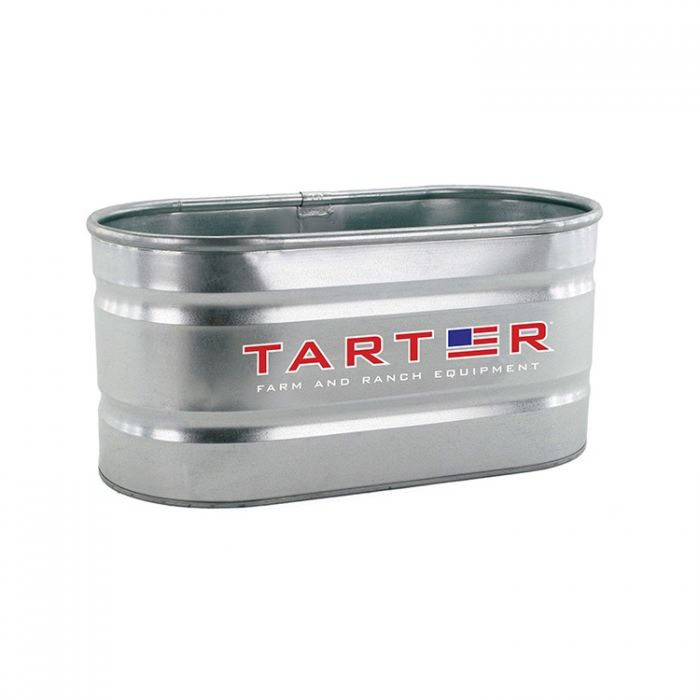 Tarter Oval Galvanized Stock Tank 2 ft x 2 ft x 4 ft 100 Gallon Capacity  WT224