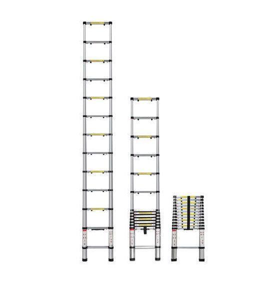OxGord 125 Foot Aluminum Telescoping Ladder V2 - LDALTS0212