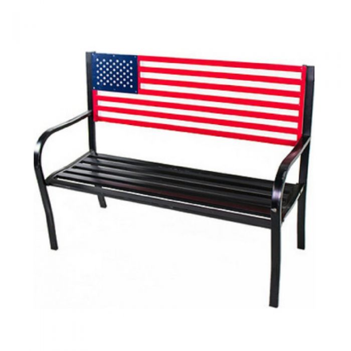 Backyard Expressions American Flag Bench 906727