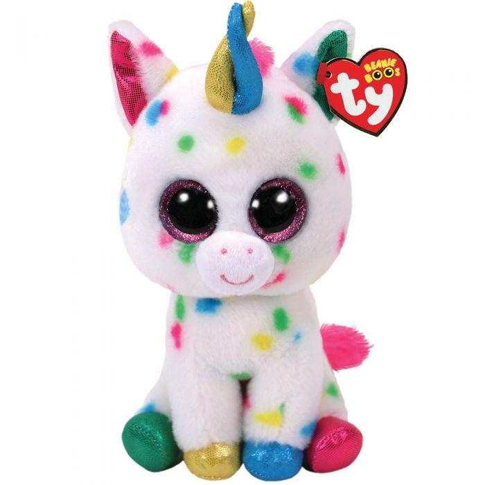32e3b8e7971 TY Beanie Boo Harmonie Speckled Unicorn Medium 37266
