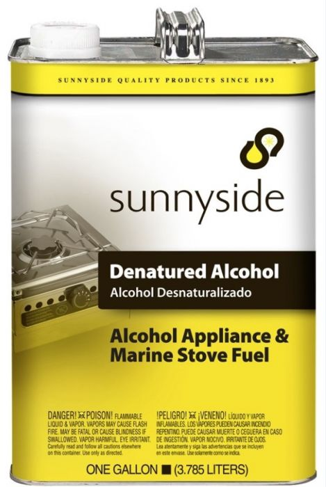 Sunnyside Denatured Alcohol 1 Gallon - 834G1