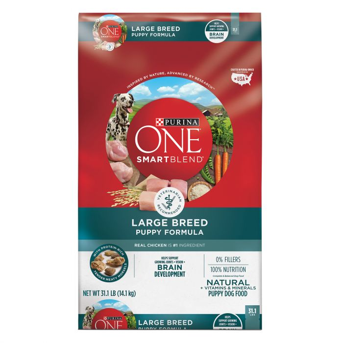Purina ONE SmartBlend Natural Large Breed Formula Dry Puppy Food - 31 1 lbs  Bag - 17800149259