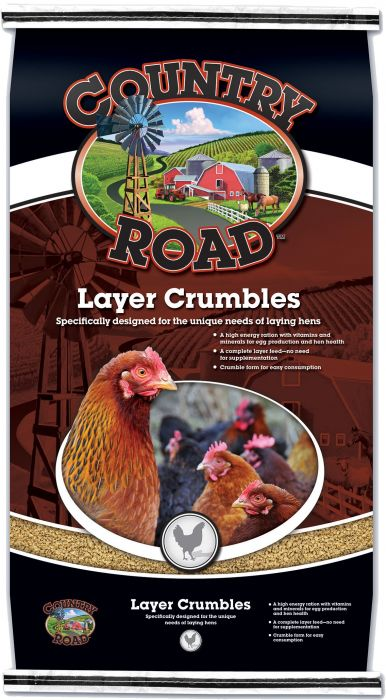 Country Road Layer Crumbles Feed 50 Lbs 2492