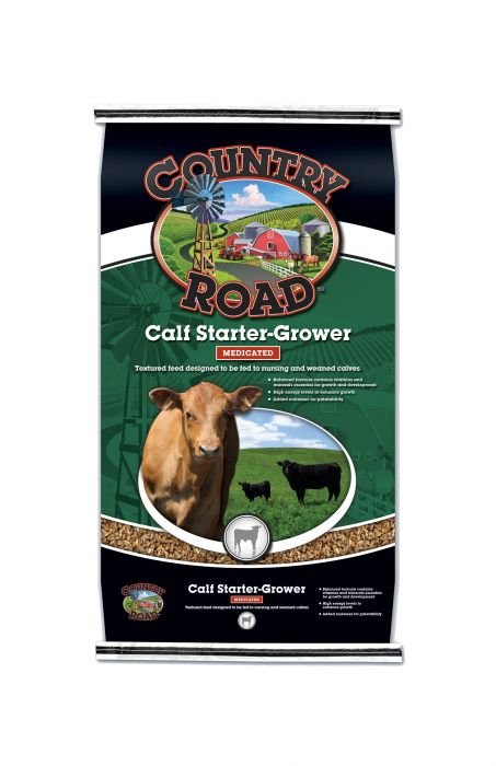 Country Road Calf Starter Grower 50 lbs Med 2176-D