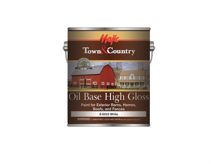 Majic Town Country Exterior Oil Base High Gloss Paint White Gallon 8 0033 1