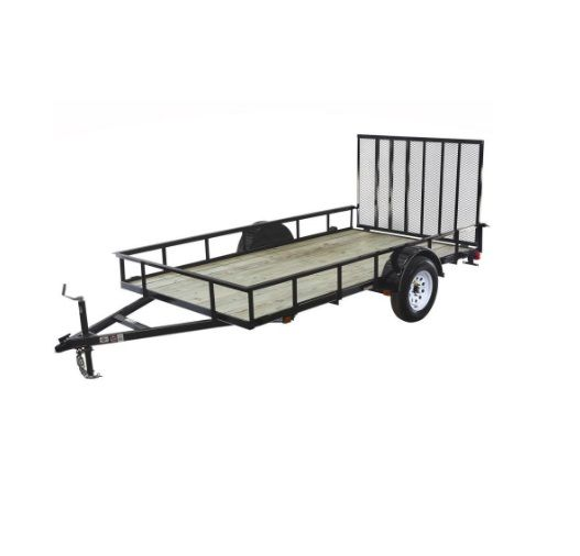Carry-On Trailer 6 ft x 12 ft Treated Lumber Utility Trailer with Gate