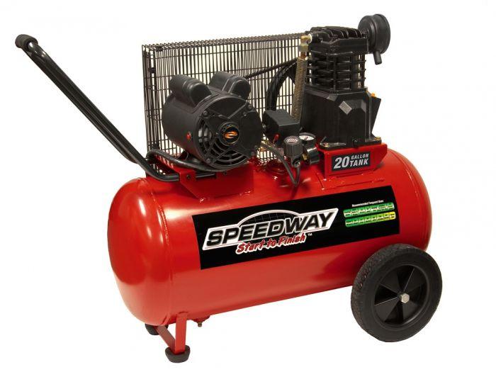 Rural King Air Compressor >> Speedway 20 Gallon Lon Electric Powered Portable Air Compressor 51647
