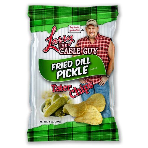 Larry the Cable Guy Fried Dill Pickle Tater Chips 23610 on rusty golf cart, aggie golf cart, mater golf cart, navy blue golf cart, tiki golf cart, big red golf cart, semi golf cart, tropical golf cart, mercedes golf cart,