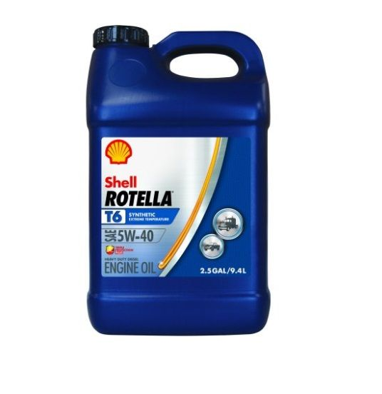 Shell Rotella T6 Synthetic Diesel 5W-40 Motor Oil 2 5 Gallon - 10006413