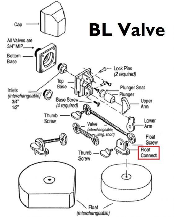 Franklin Bl116 Float Connect Bl Valve 41630