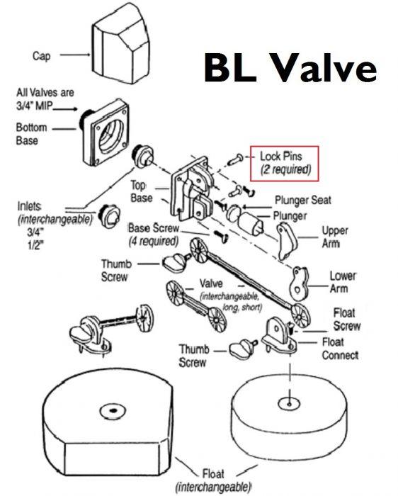 Franklin Bl106 Lock Pin Bl Valve 41619