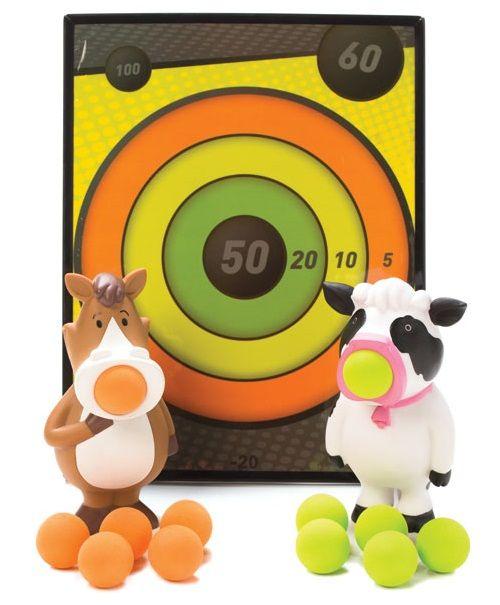 Hog Wild Toys Squeeze Popper & Sticky Target Set 54320