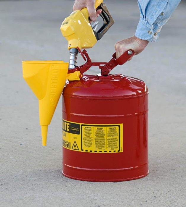 Safety Gas Can >> Justrite 5 Gallon Safety Can 7150112