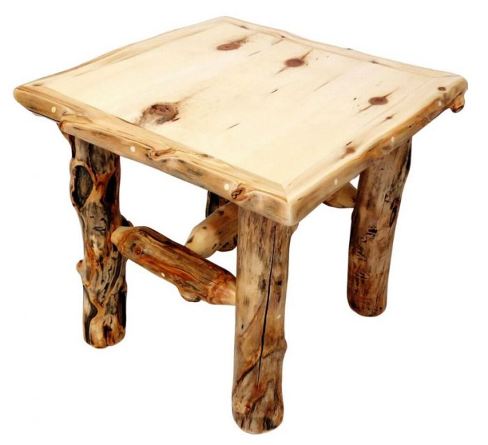 Mountain Woods Furniture Aspen Grizzly End Table Ag Et
