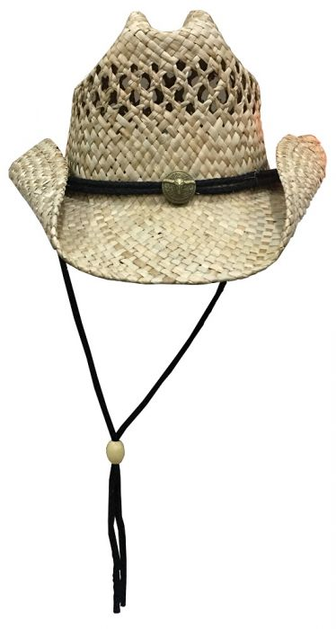 63adc961a1c Dorfman Pacific Seagrass Straw Western Hat (TSCMS46os)
