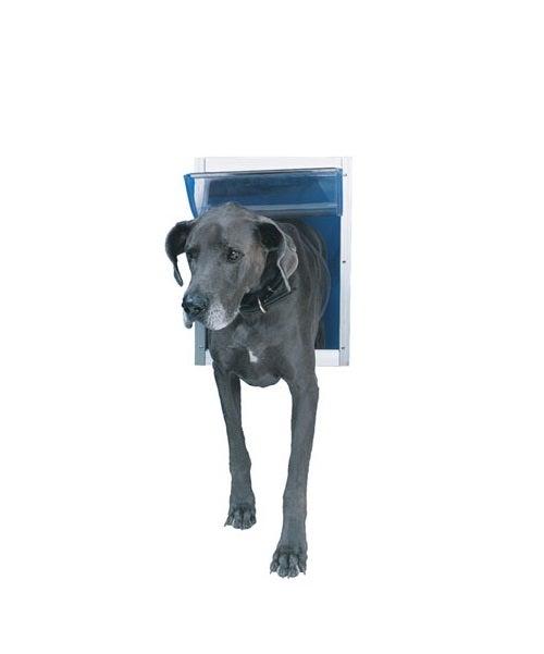 Ideal pet products deluxe white aluminum pet door dd for Ideal dog door