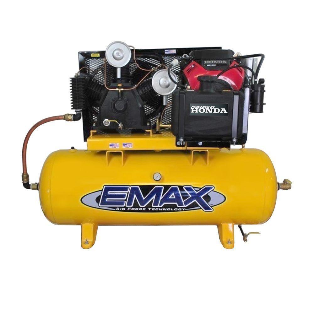 Rural King Air Compressor >> EMAX 24-HP HONDA Electric Start 120-Gal Horizontal Air ...