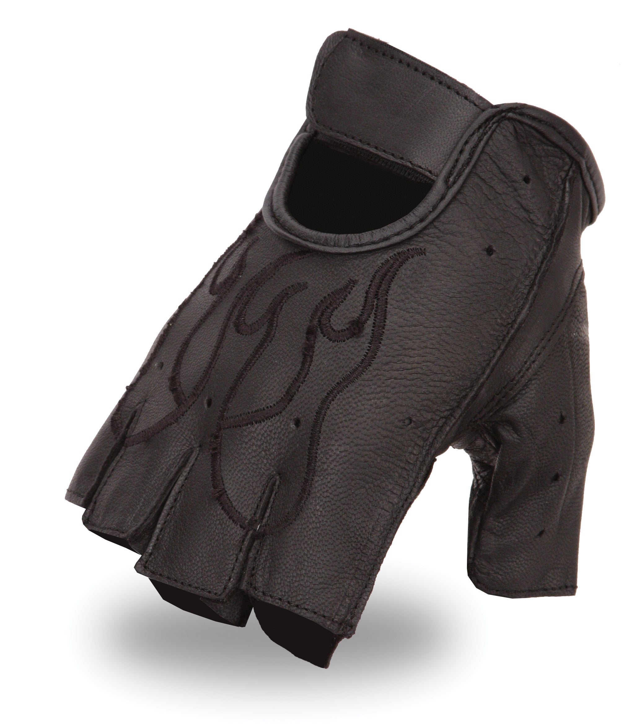 Fingerless leather gloves mens accessories - Image Is Loading First Classics Men 039 S Embroidered Fingerless Leather