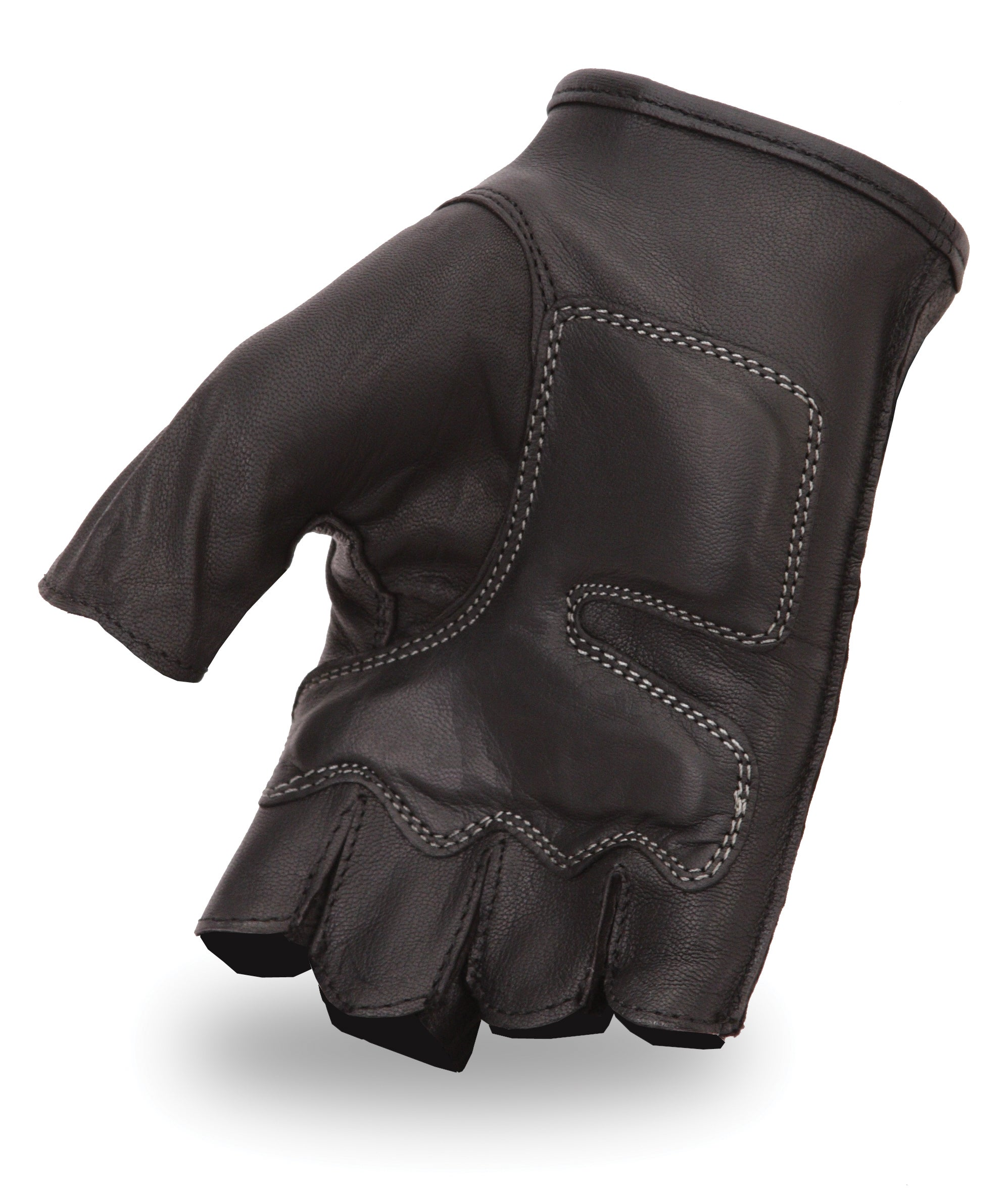 Fingerless leather gloves mens accessories - First Classics Men 039 S Embroidered Fingerless Leather