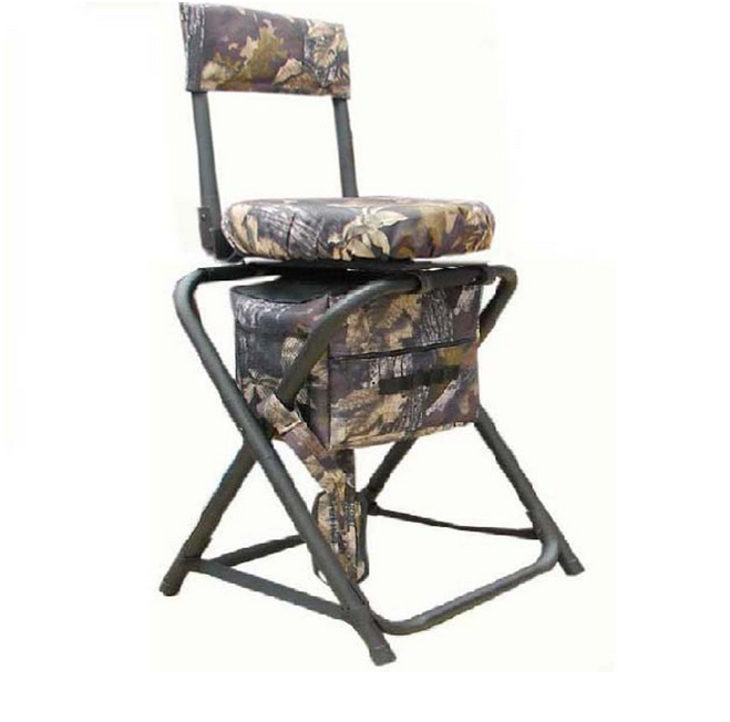 Foundton Camo Folding Full Swivel Stool with Pack A