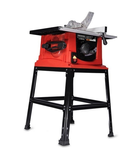 General international 10 13a motor table saw w stand for 10 table saw motor