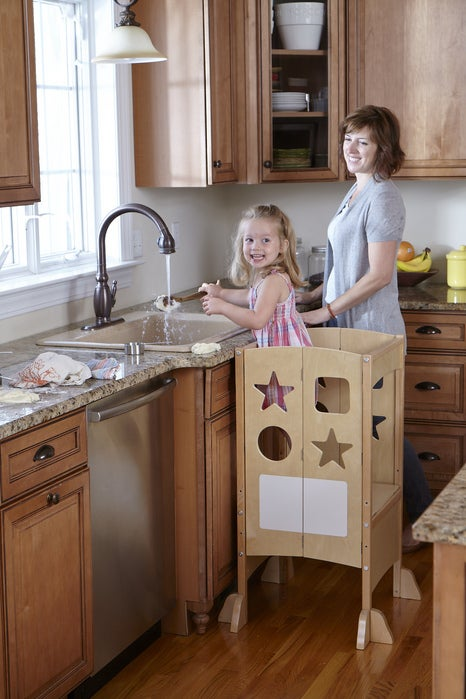 Guidecraft kitchen helper g97325 ebay for Kitchen helper stool
