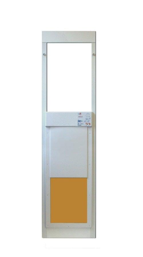 High tech pet power pet large door insert for sliding for Large sliding glass doors