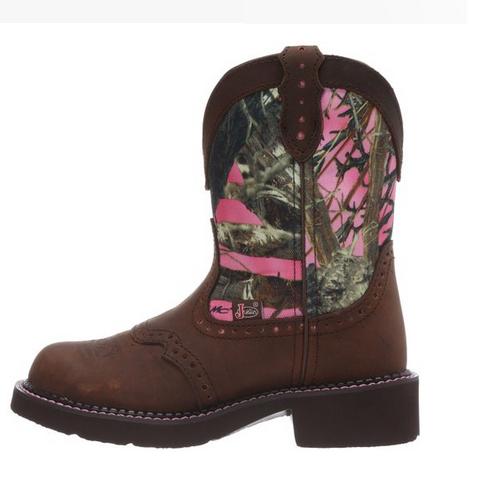 justin s aged bark pink camo boot l9610 ebay