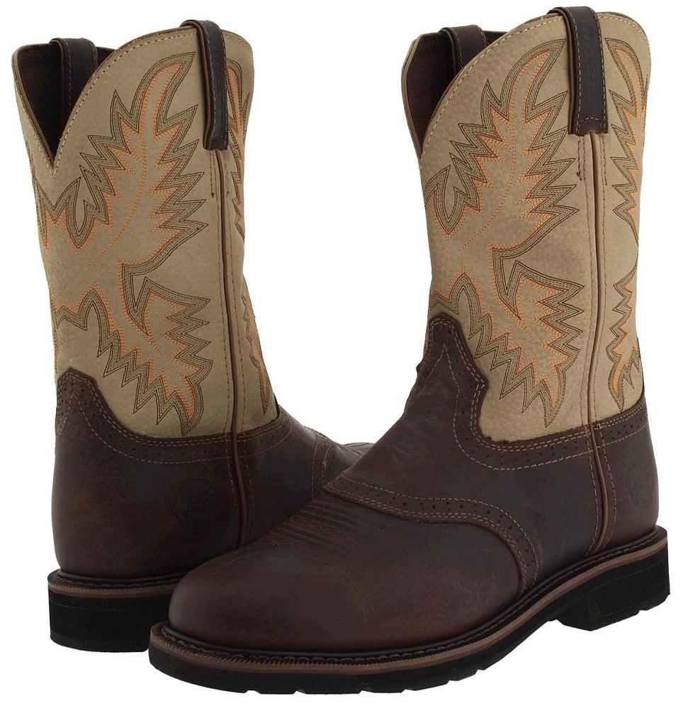 Justin Men S 11 Quot Waxy Brown Stampede Work Boots Wk4660 Ebay