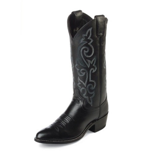 Details About Justin Mens 13 Black London Calf Western Boots 1409