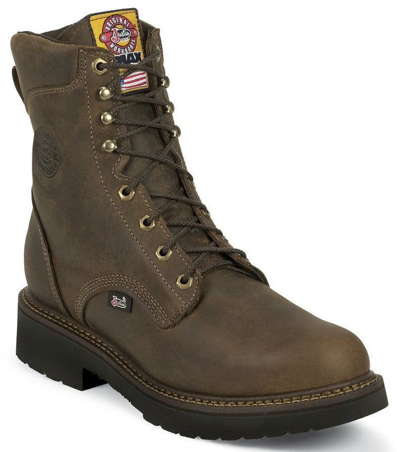 Justin Men S 8 Quot Rugged Bay Gaucho J Max Lace Up Steel Toe