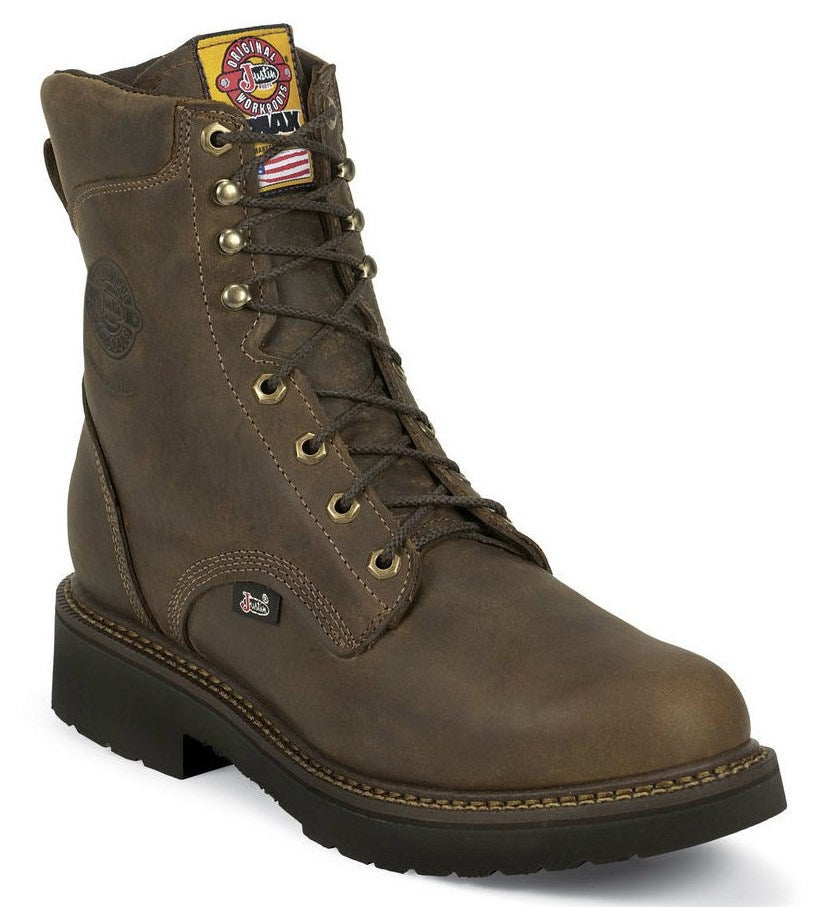 Justin Men S 8 Quot Rugged Bay Gaucho J Max Lace Up Work Boots