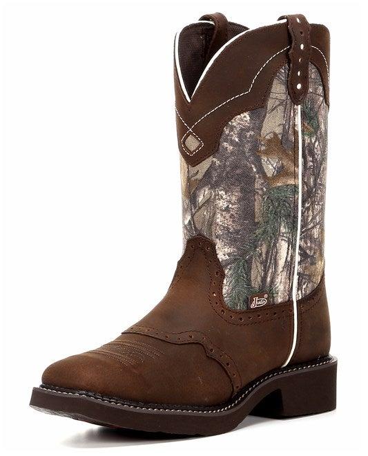 justin s aged bark camo boot l9609 ebay