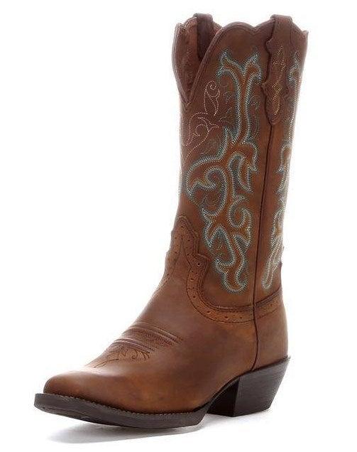 Justin Women S Blue Amp Sorrel Apache Stampede Western Boot
