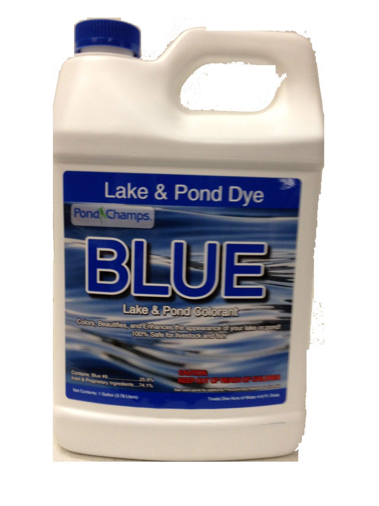 Pond champs blue pond dye colorant 1 gallon ebay for Blue pond dye