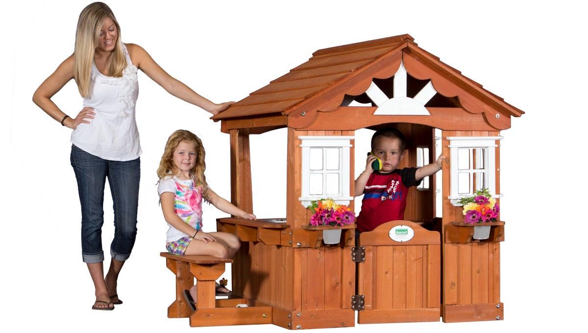 leisure time backyard discovery scenic playhouse 36013 ebay