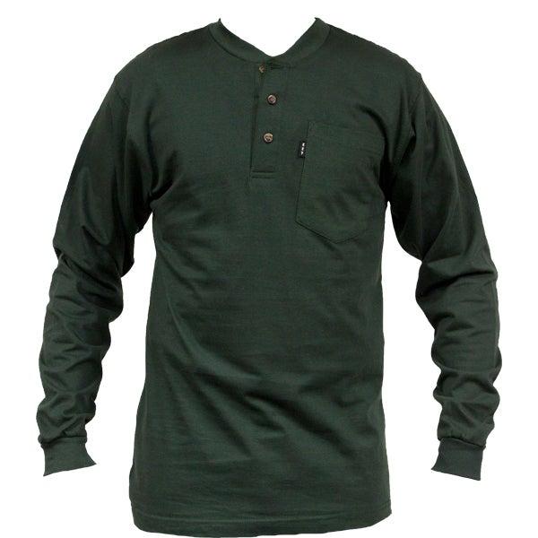 Key Industries Men's Heavyweight Pocket Henley Long Sleeve T-Shirt 865