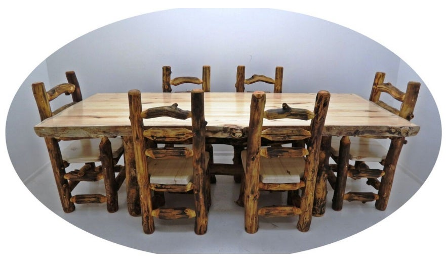Mountain Woods Furniture Aspen Grizzly 4u0027 Dining Table AG DT4