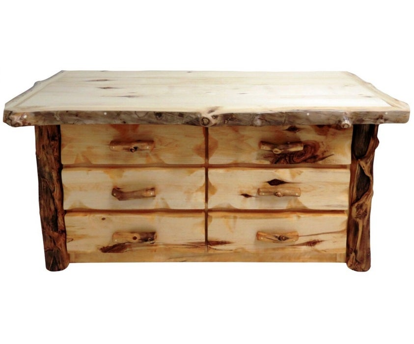 Mountain Woods Furniture Aspen Grizzly 6 Drawer Dresser AG