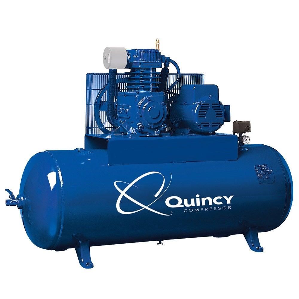Rural King Air Compressor >> Quincy QT-5 Horizontal 80 Gallon 5 HP 2 Stage Air ...